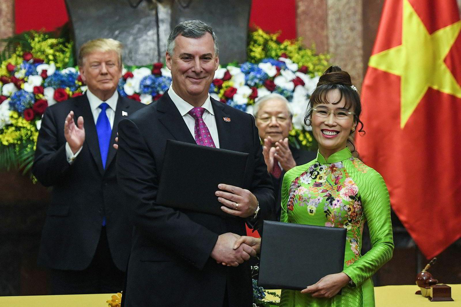 Nguyen Thi Phuong Thao står bak lavprisflyselskapet VietJet, som har satt inn ordrer på over 370 fly hos Boeing og Airbus. Ordrer på 18 milliarder dollar ble satt inn hos amerikanske selskaper i Hanoi på onsdag.