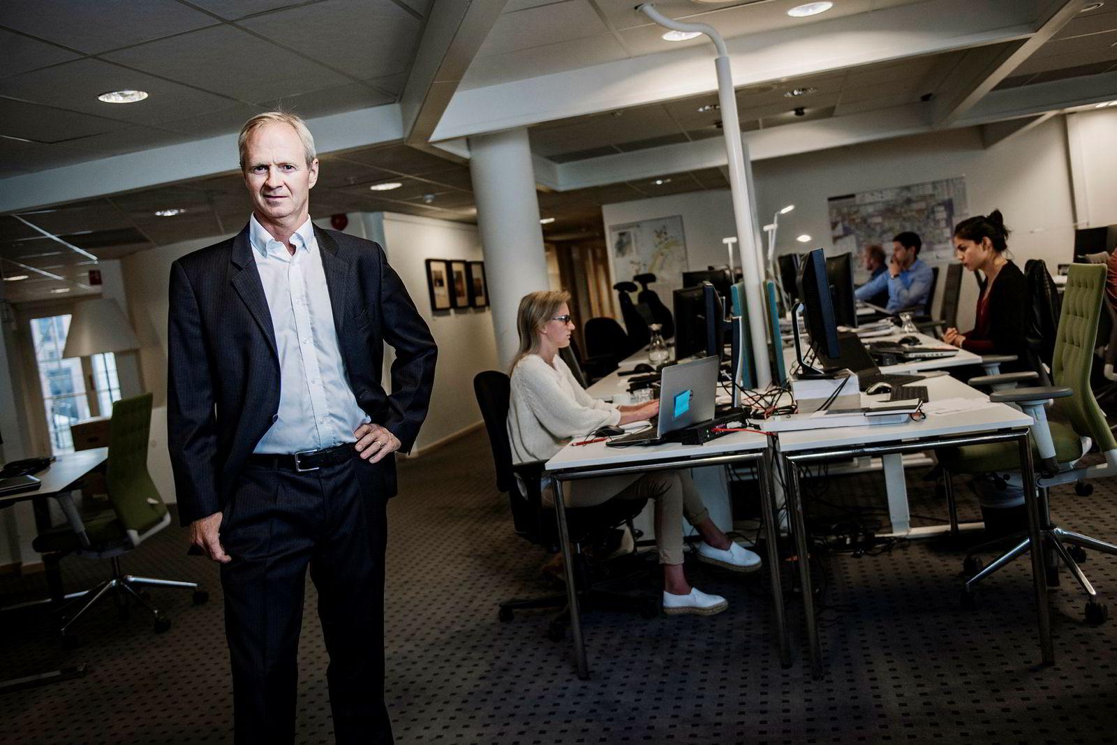 Per Magnus Nysveen, analysesjef i Rystad energy i selskapets lokaler på Aker brygge, Oslo.