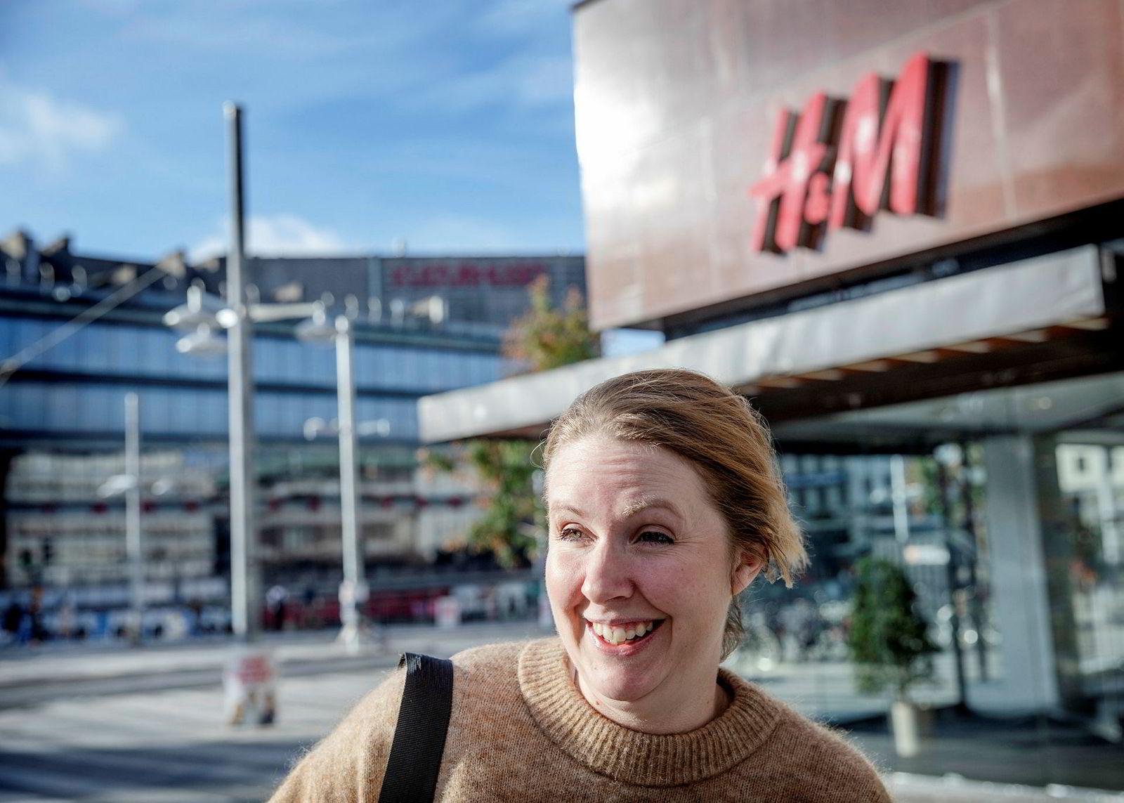 Hanna Rosengren (32) stemte på Socialdemokraterna, og hun er fornøyd med at partiets oppslutning tross alt falt mindre enn ventet.