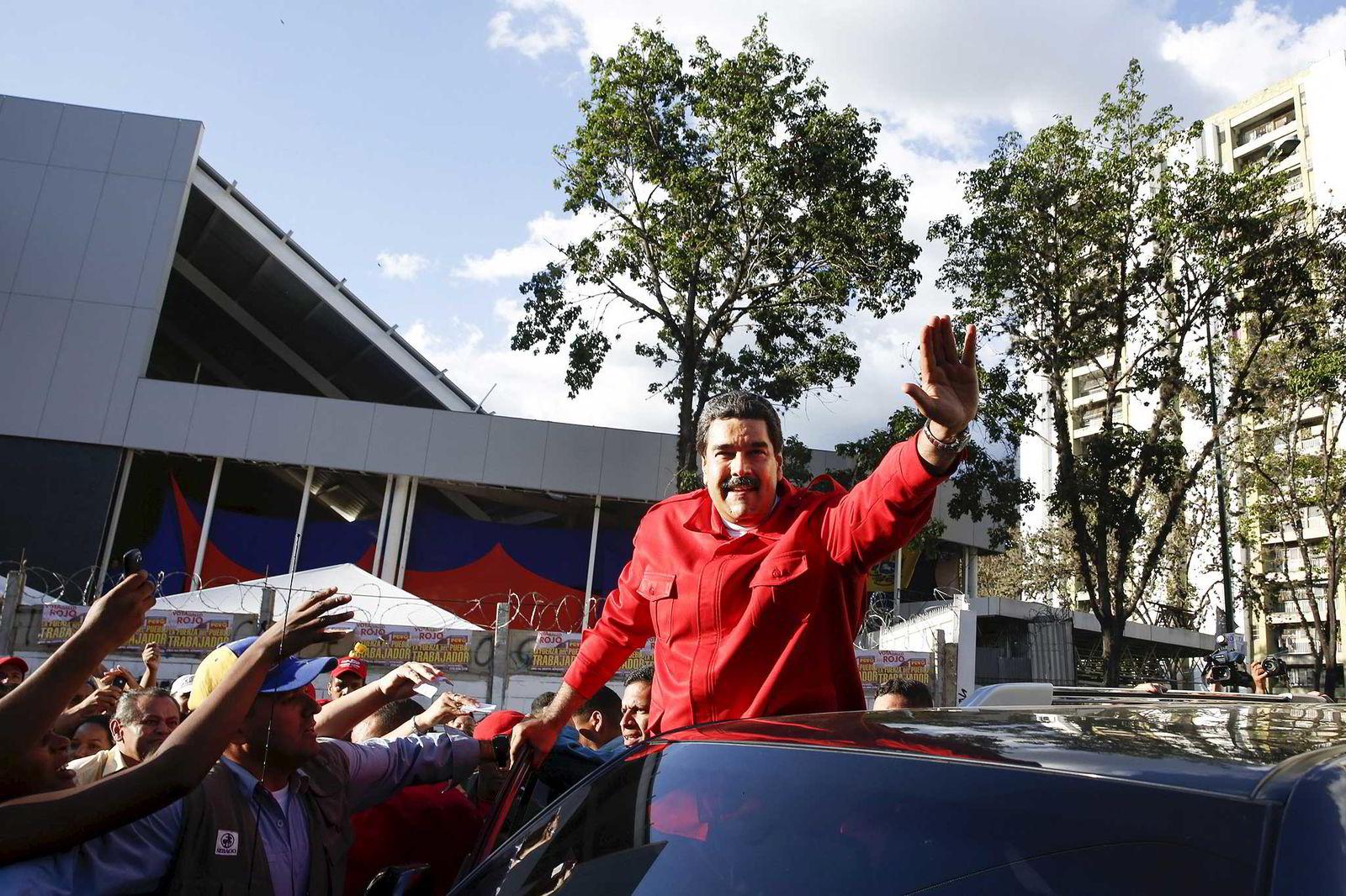 Venezuelas president Nicolas Maduro her under en offentlig opptreden i hovedstaden Caracas i desember i fjor. Foto: REUTERS/Carlos Garcia Rawlins/NTB Scanpix