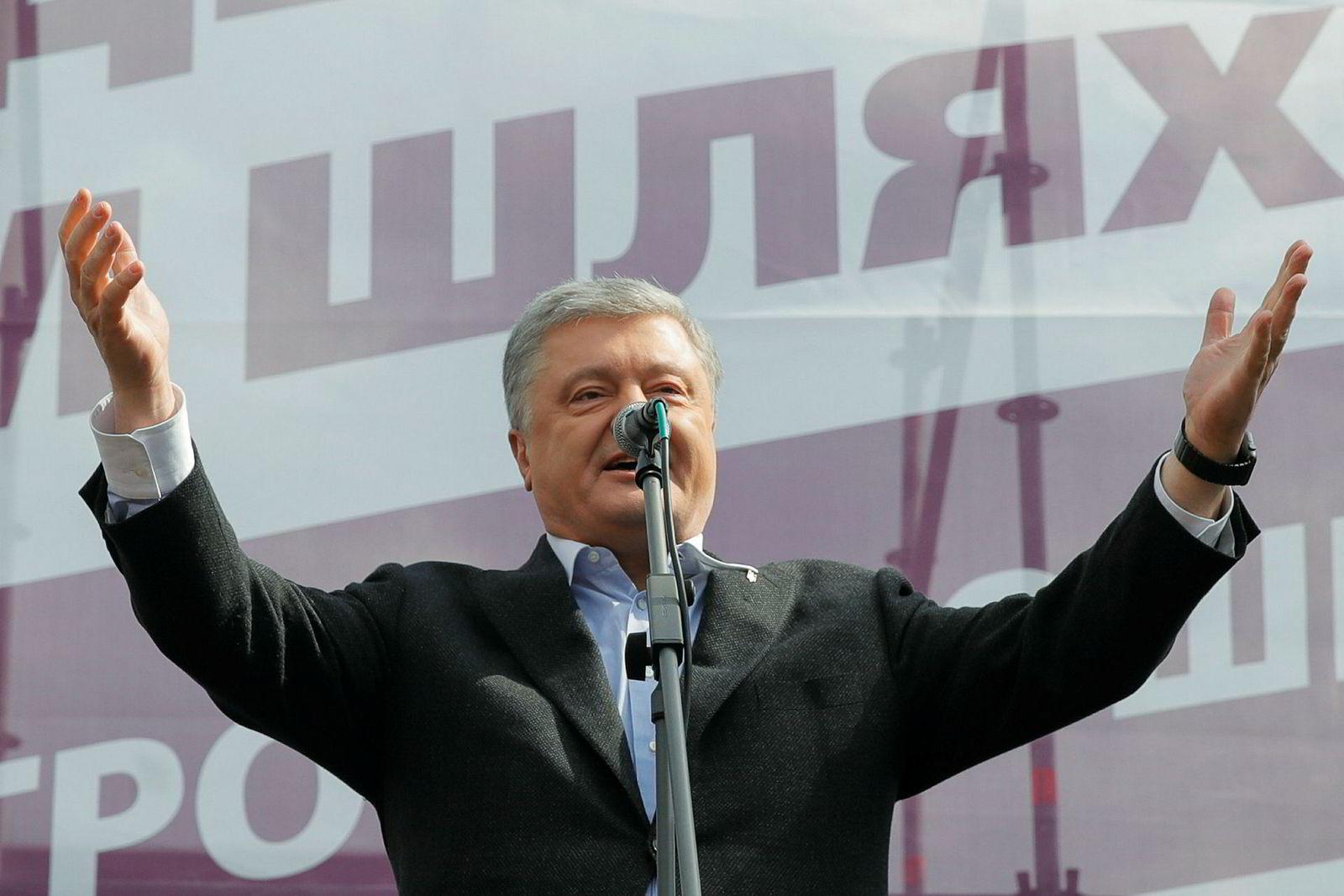 Ukrainas president Petro Porosjenko er i en svært vanskelig posisjon før andre valgrunde i landet.