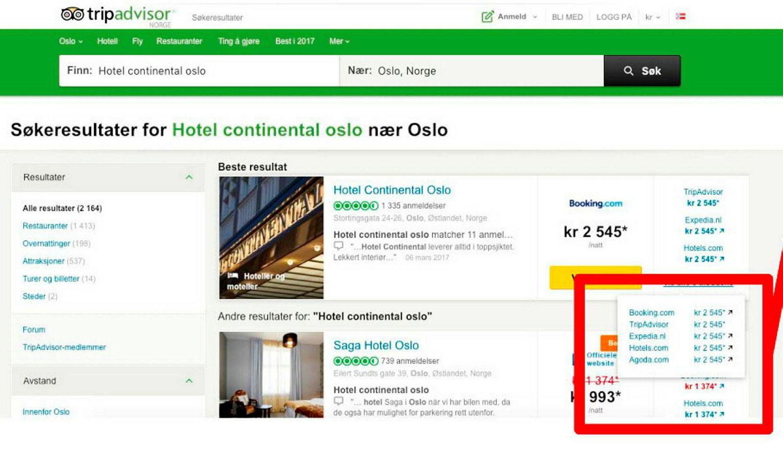 Mange tilbydere gir inntrykk av konkurranse, Men reelt sett er det bare to. For Hotels.com og Expedia er samme konsern. Booking.com og Agoda eies av nederlandske Priceline – som også tar seg av bookingene til Tripadvisor.