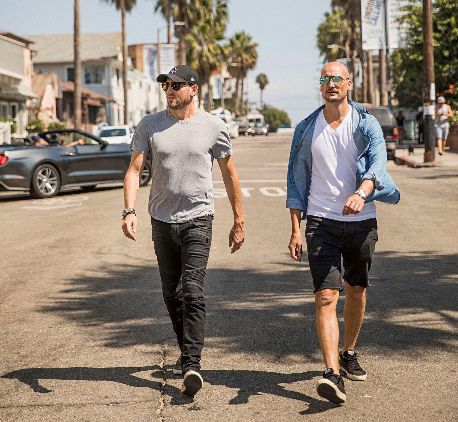 Tor Erik Hermansen (til venstre) og Mikkel Eriksen arbeider i eget studio i Los Angeles