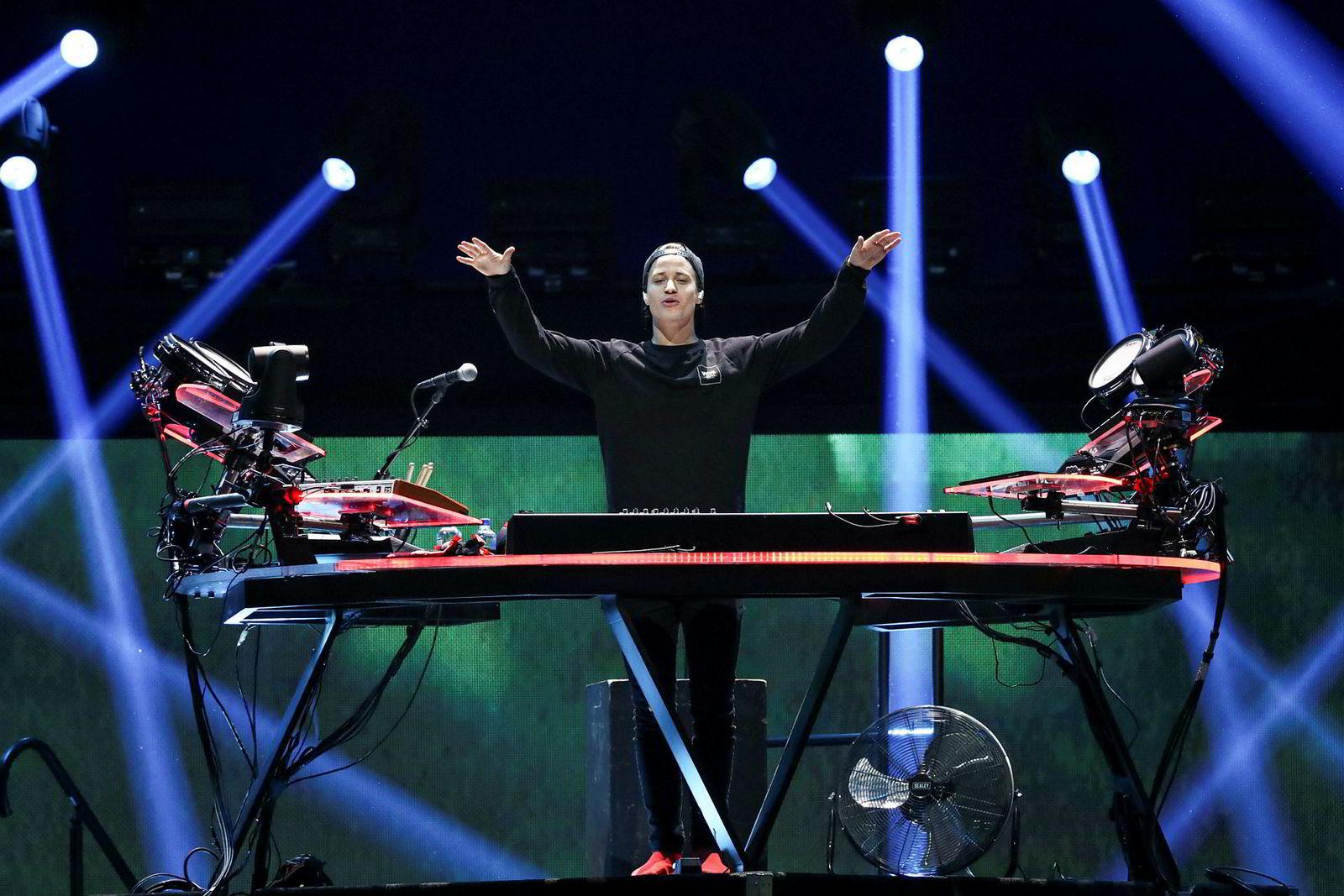 Kygo under iHeartRadio Music Festival på T-Mobile Arena i Las Vegas fredag.