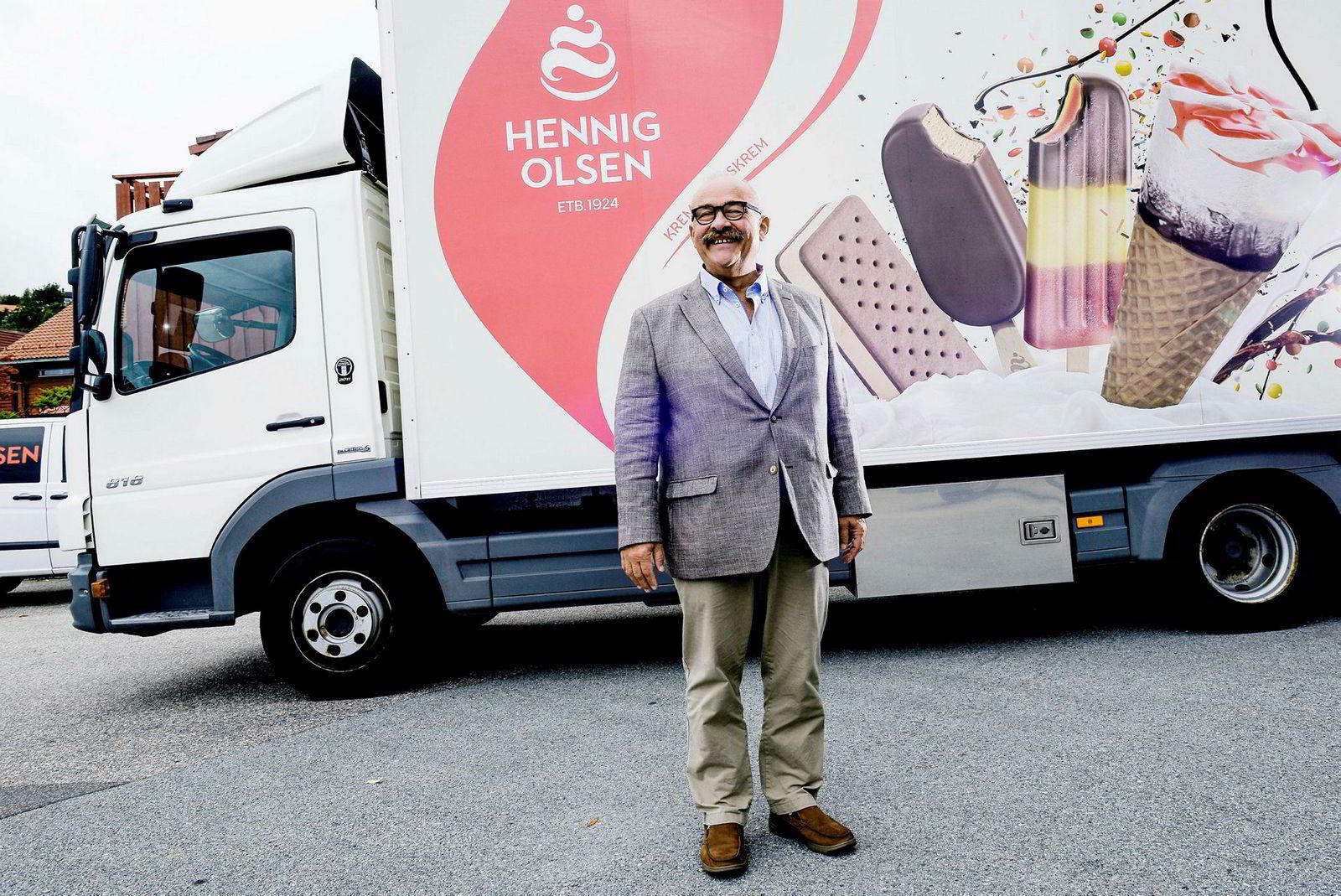Etterspørselen etter vegan- og nullkaloriis vokser enormt, sier administrerende direktør i Hennig-Olsen Is, Paal Hennig-Olsen.