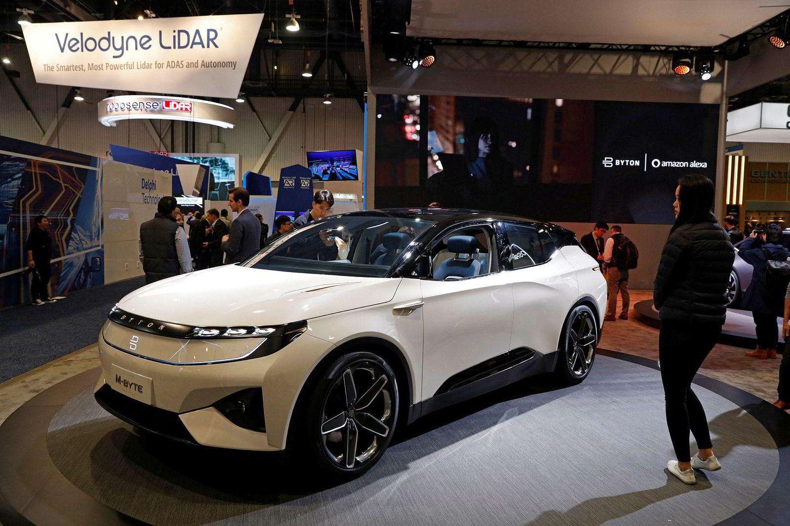 Byton M-Byte var sist å se under teknologimessen CES i Las Vegas i januar.