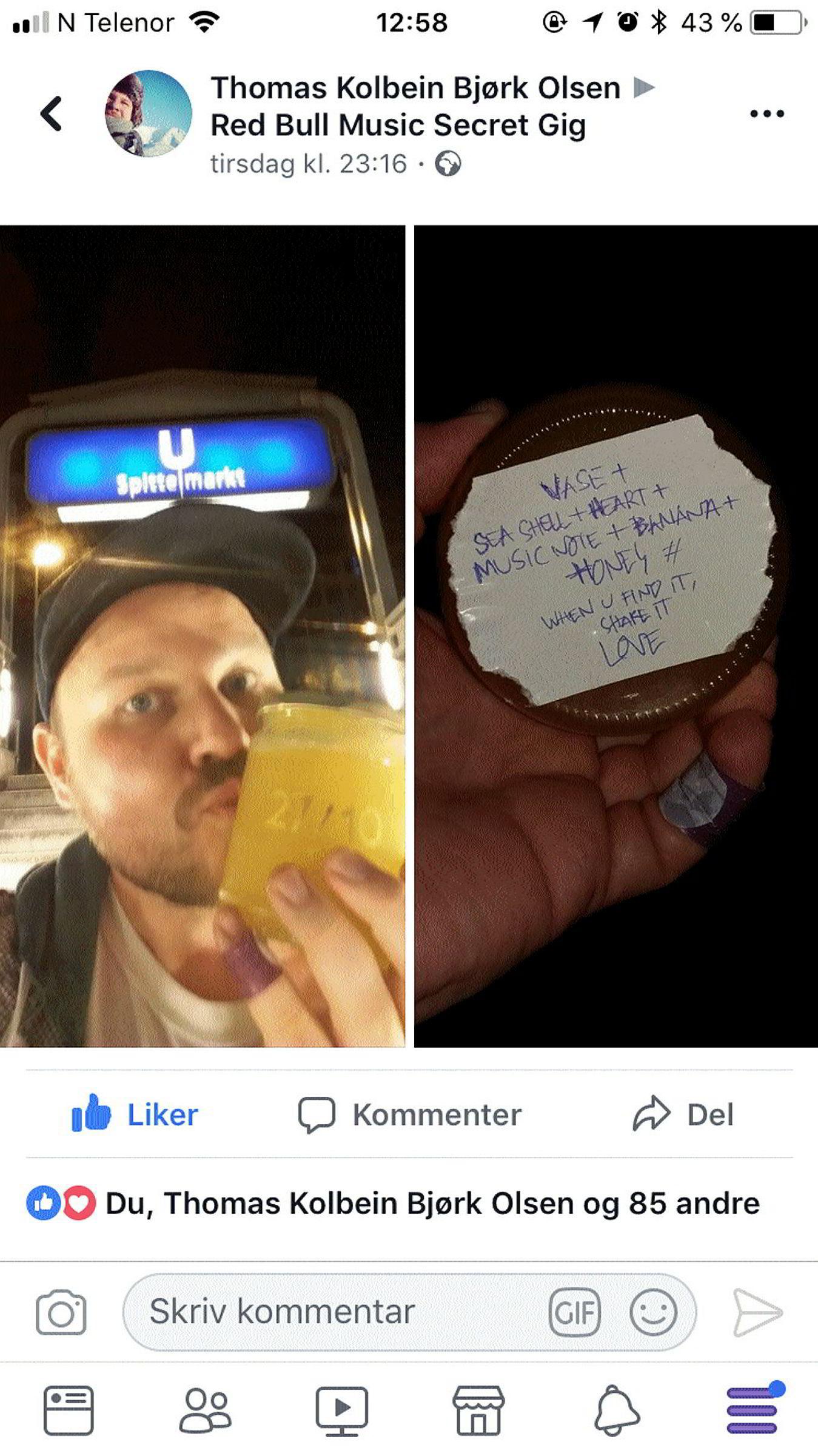 Nordmannen Thomas Kolbein Bjørk Olsen fant Robyns honningkrukke, og en kode på undersiden, ved U-bahnstasjonen Spittelmarkt i Berlin.