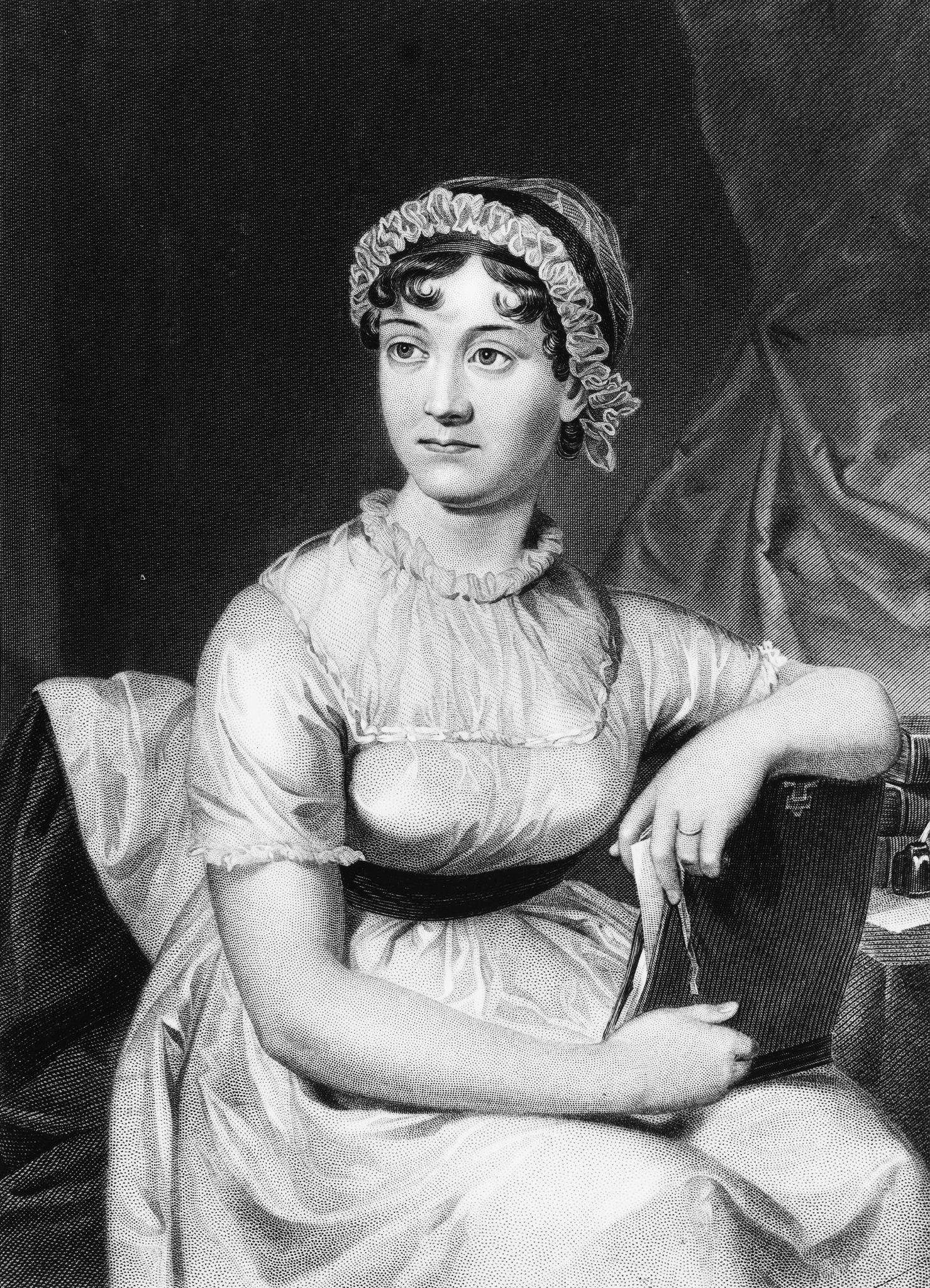 Jane Austen gjemte vekk penn og papir og tok frem broderirammen når det kom besøk. Foto: Hulton Archive/