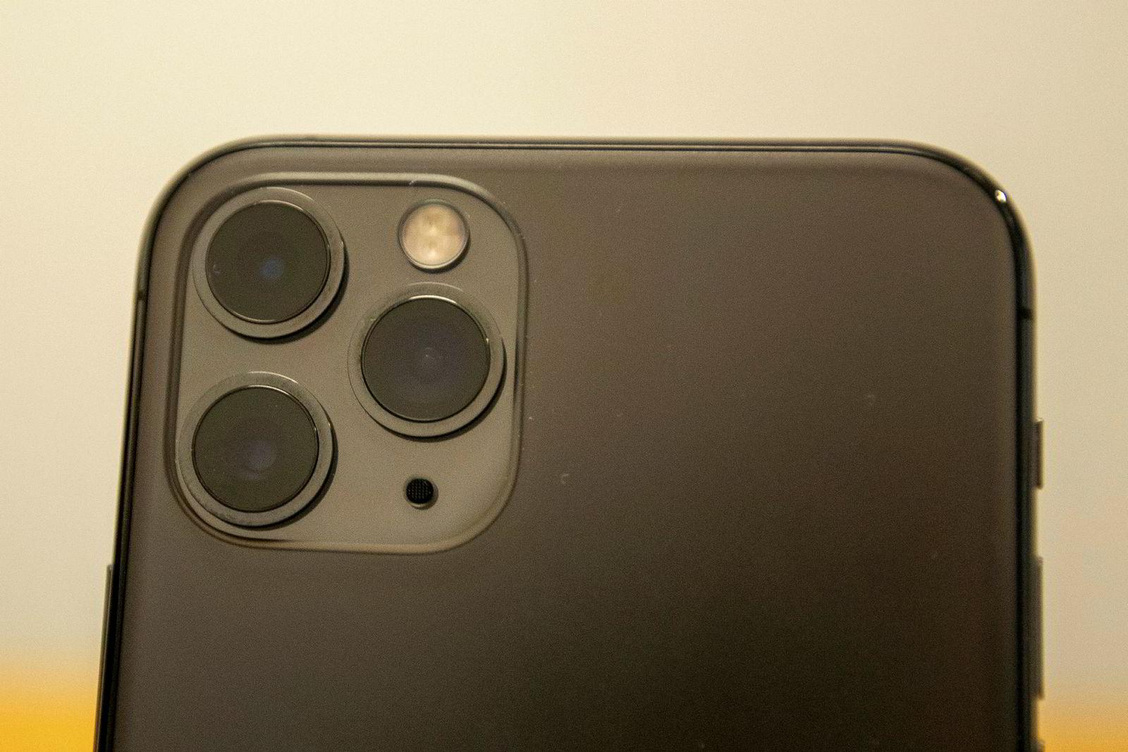 Iphone 11 Pro har en uvant usymmetrisk kameramodul.