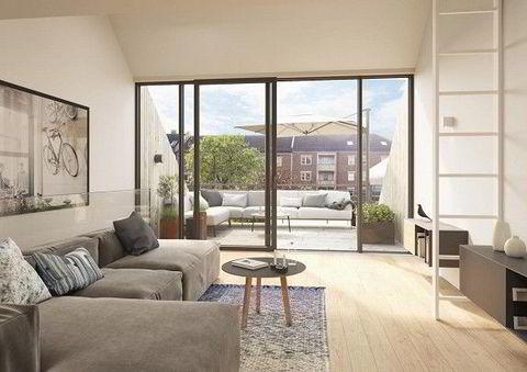 Husene skal ha skyvedører i stuen og utgang til felles bakgård. Illustrasjonsfoto: Sem og Johnsen