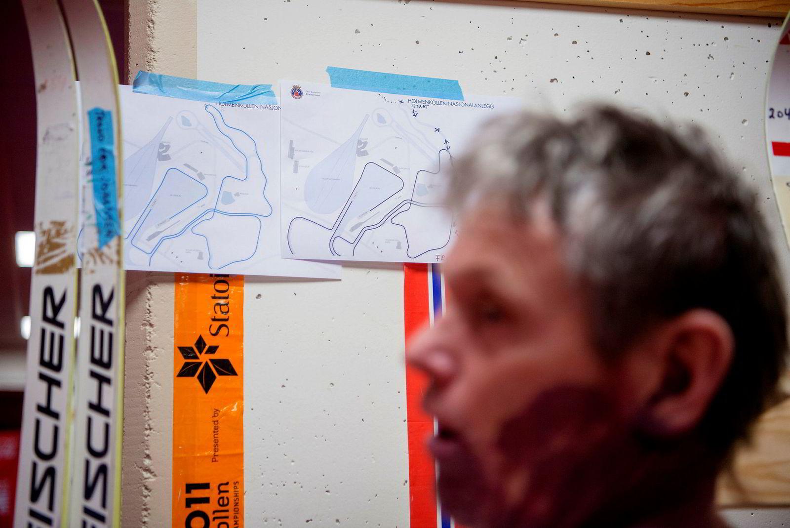 Pål Gunnar Mikkelsplass preparerer ski Oslo Energy Forum.