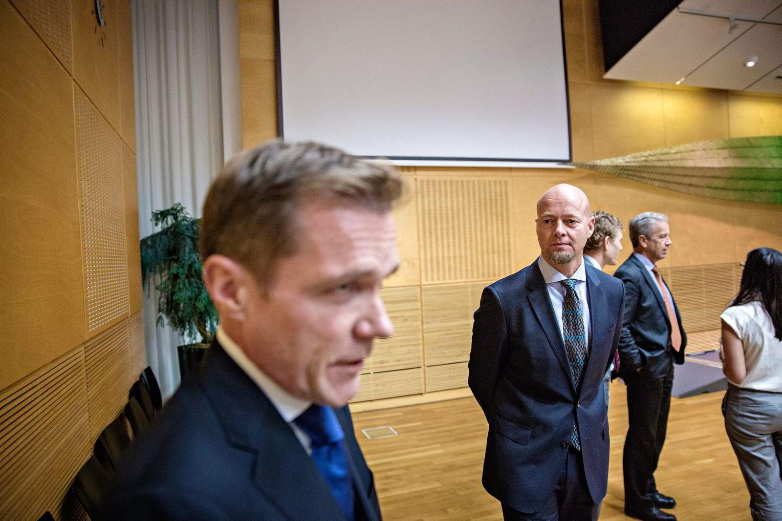 Statssekretær Paal Bjørnestad (t.v.). Foto: Aleksander Nordahl