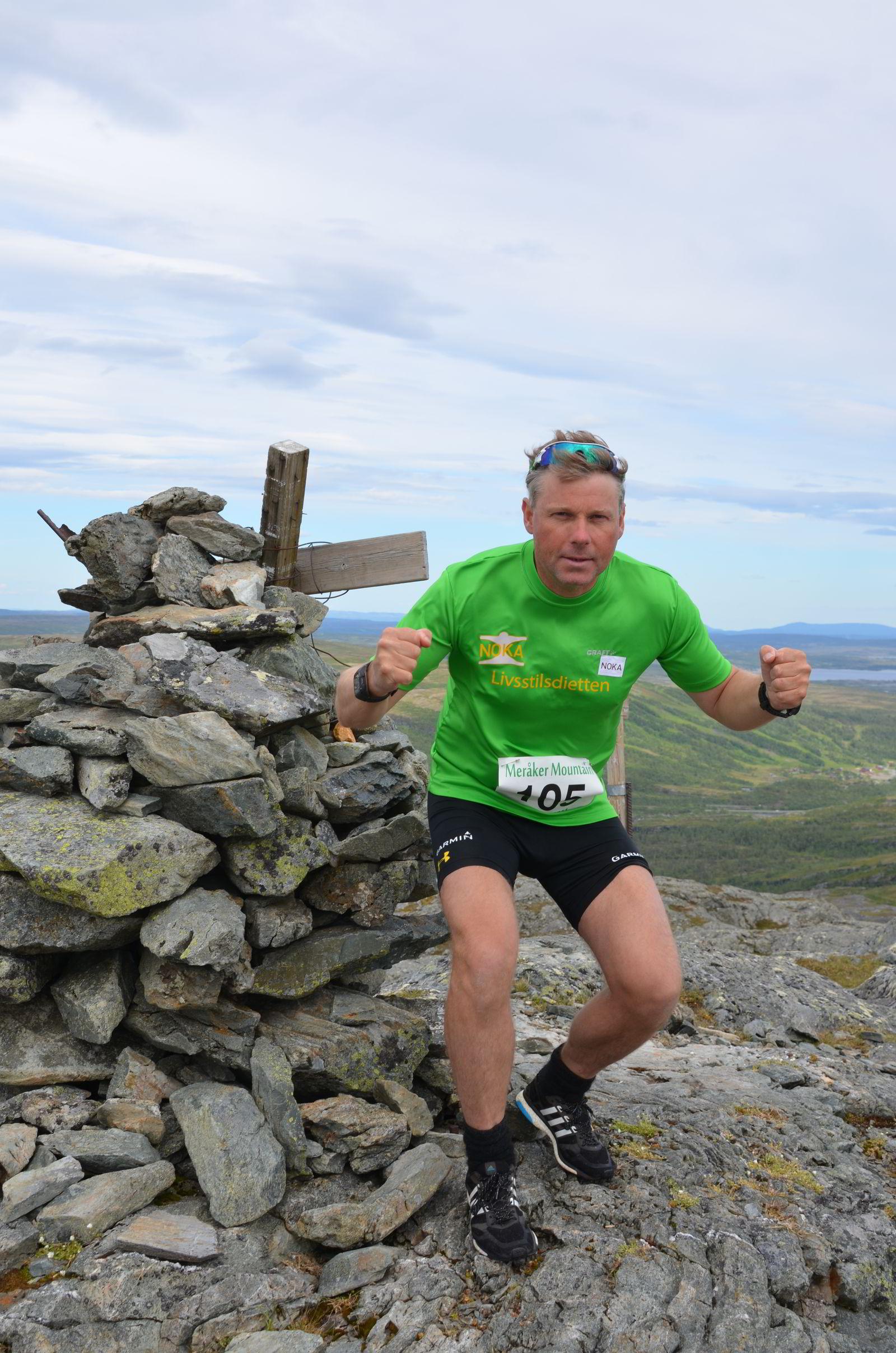 LADER OPP TIL VERDENSREKORDFORSØK: Løpsarrangør Hallgeir Martin Lundemo bruker helgens 70 km fjelløp til å lade opp til verdensrekordforsøk.FOTO: Anniken Olberg