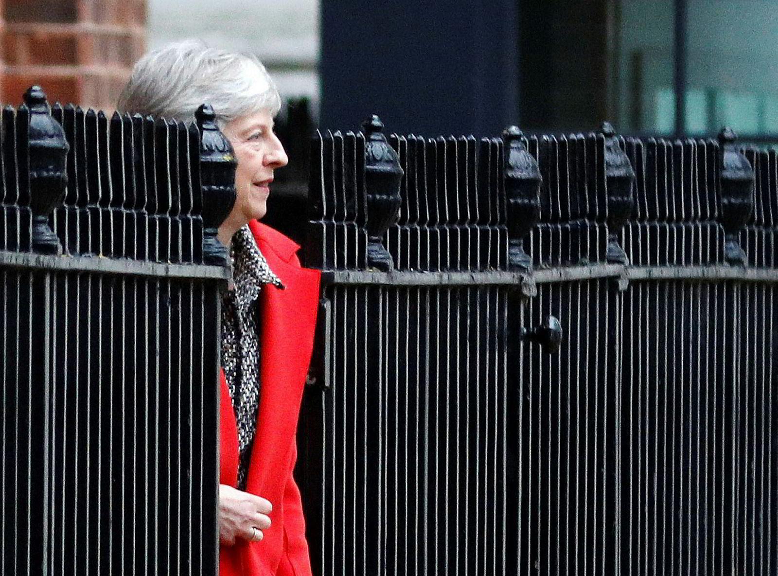 Statsminister Theresa May og Storbritannia forlater EU i 2019.