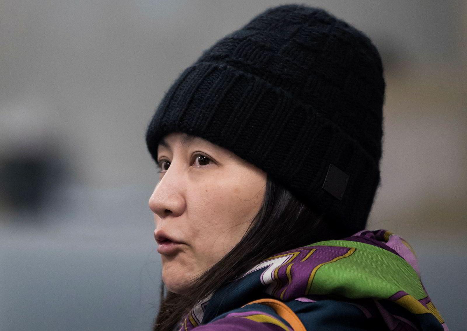 Huaweis finansdirektør Meng Wanzhou sitter i husarrest i Canada.