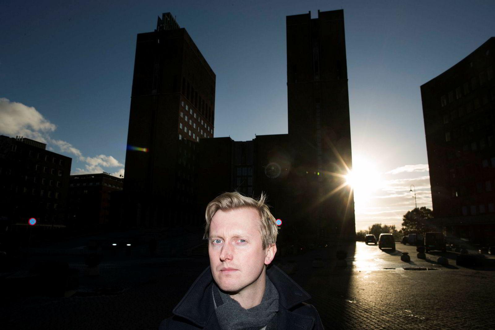 Høyres finanspolitiske talsmann Øystein Sundelin risikerer å arve skattekravet fra dagens byråd, dersom det blir nytt byråd etter valget i 2019.