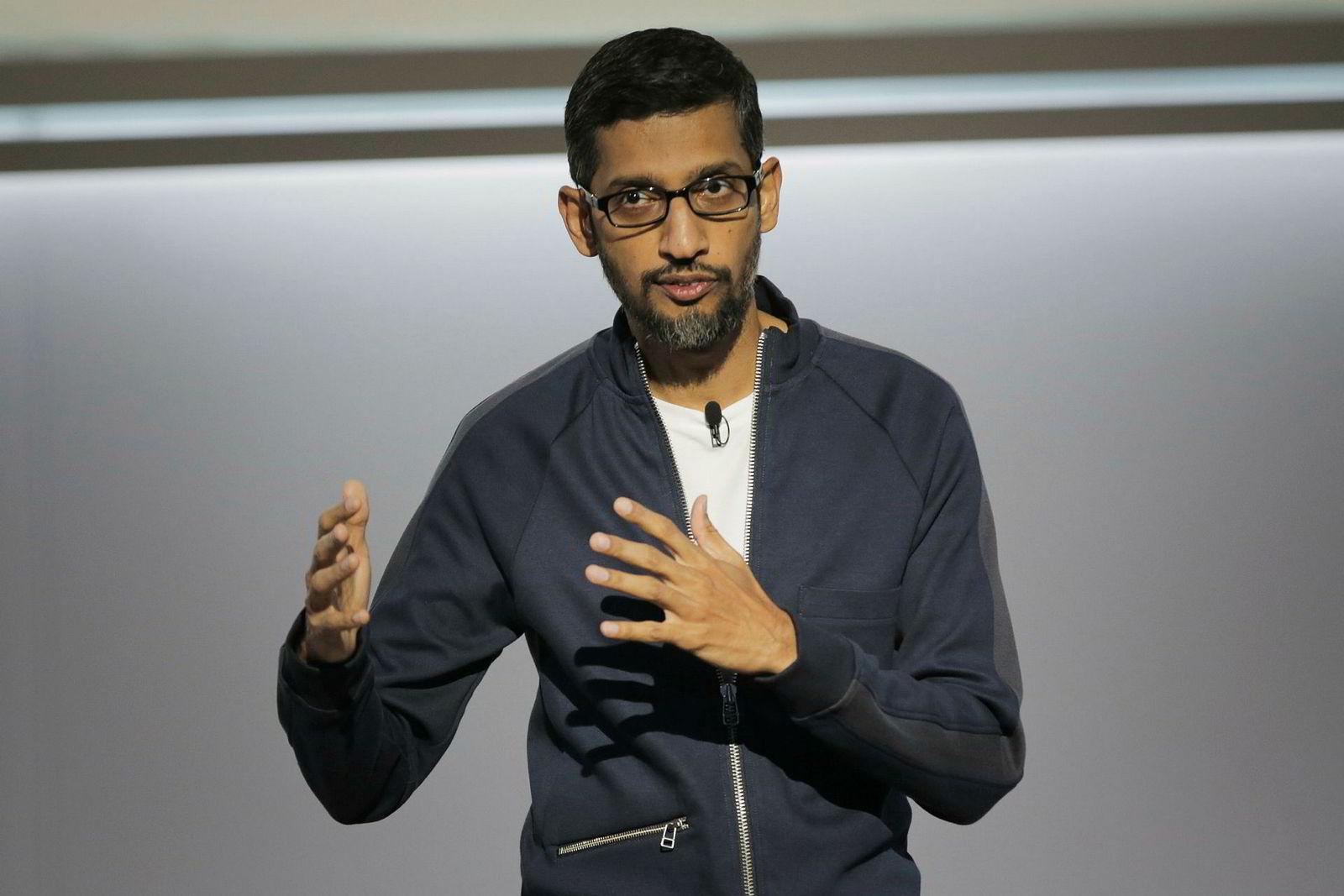 Sundar Pichai, administrerende direktør i Google, Inc.
