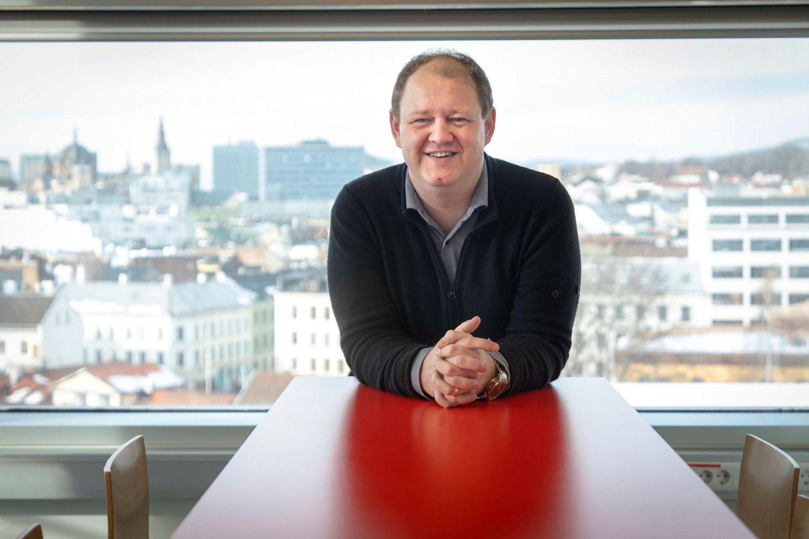 Hodejeger Erik Falk Hansen.