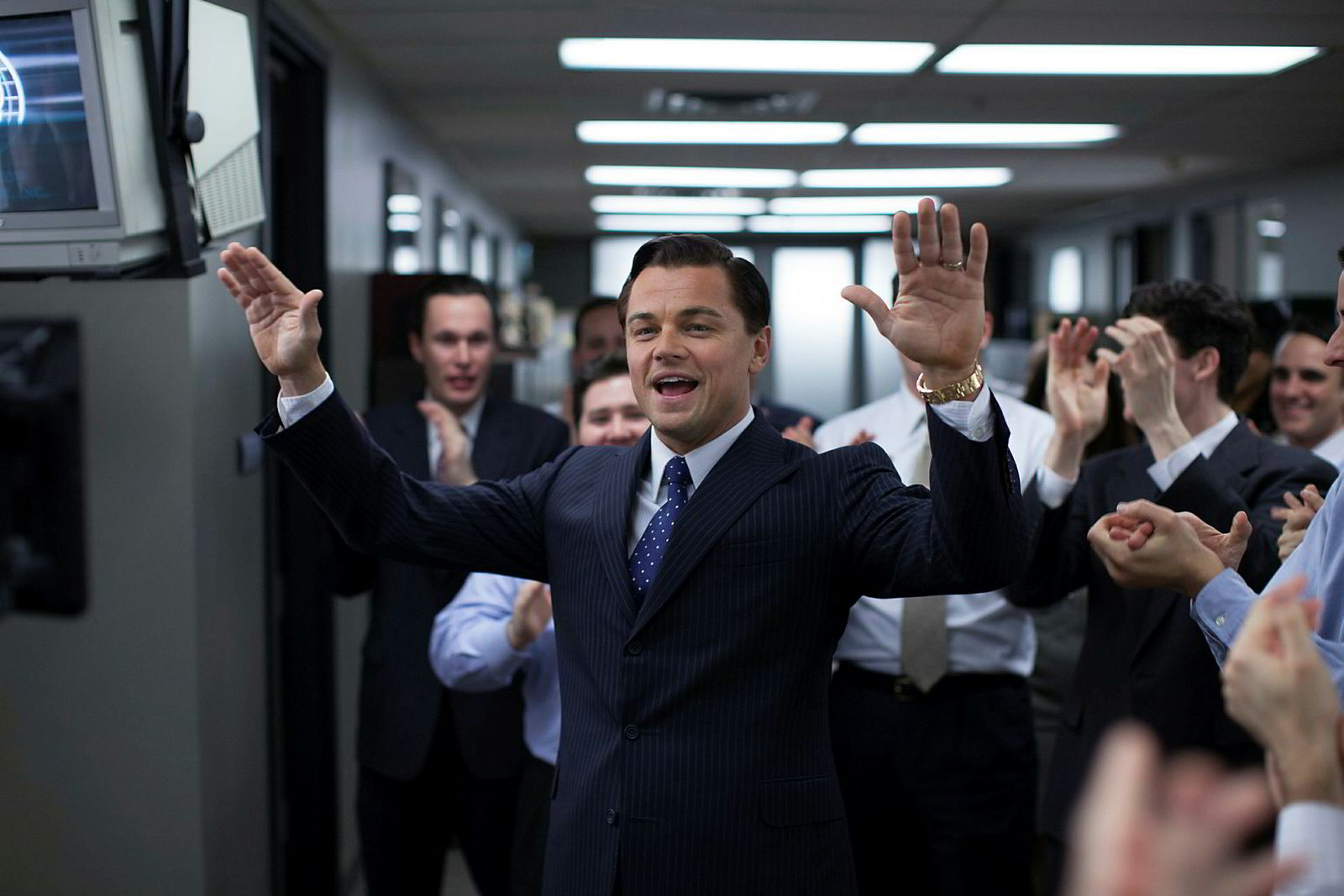 Leonardo DiCaprio som Jordan Belfort i filmen «Wolf of Wall Street».