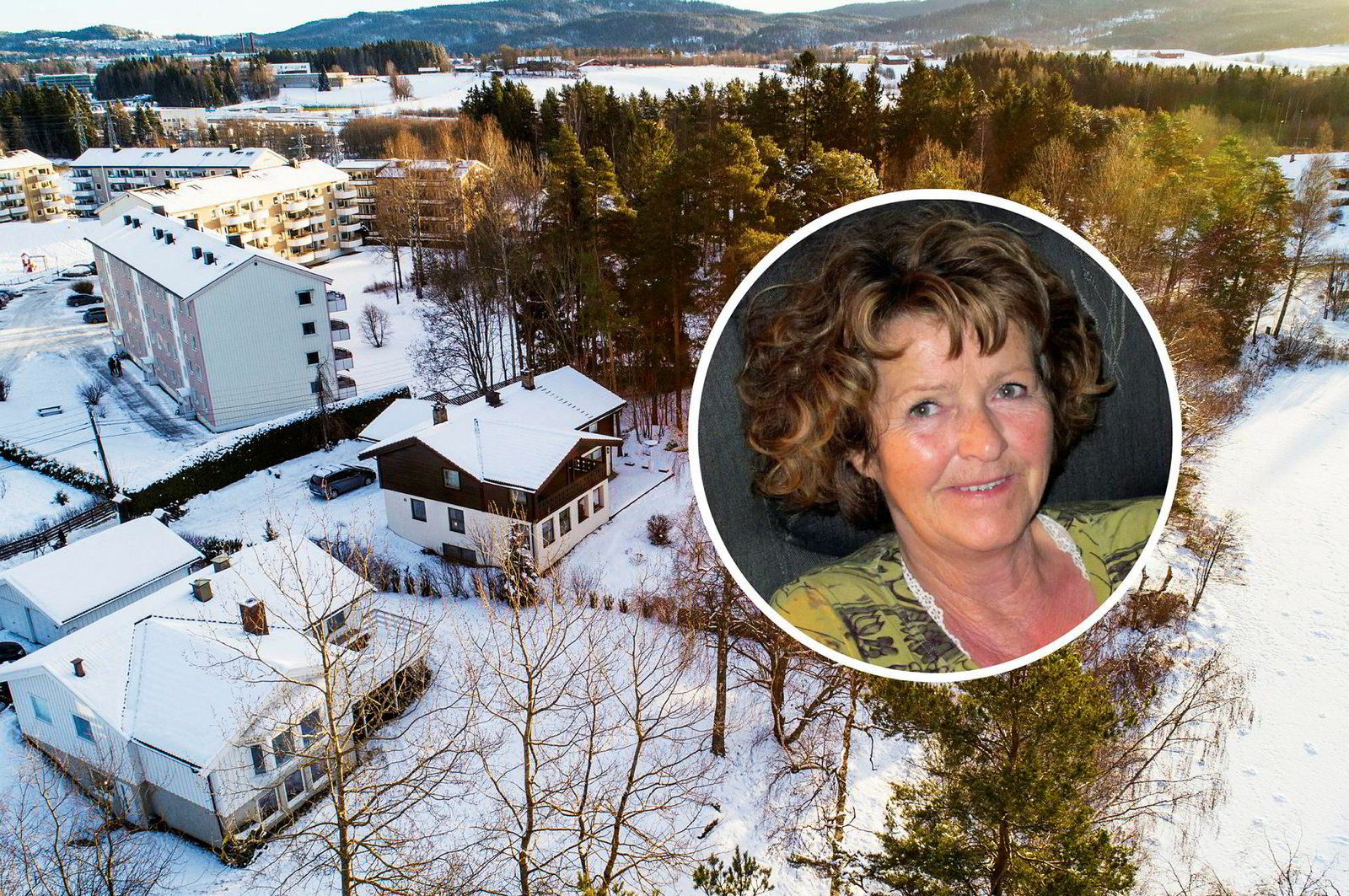 Anne-Elisabeth Falkevik Hagen har vært savnet siden 31. oktober i fjor. Hun bodde i dette svarte og hvite huset på Fjellhamar i Lørenskog sammen med sin mann, milliardæren Tom Hagen som er en av Norges rikeste menn.