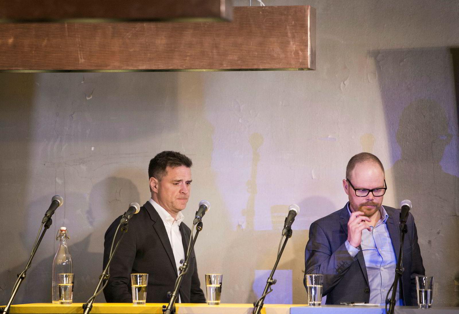 Oslo Journalistlag arrangerer debatt om seksuell trakassering i mediebransjen, på Brygg i Storgata, i kjølvannet av kampanjen #metoo. Blant deltagerne er sjefredaktør Espen Egil Hansen i Aftenposten og sjefredaktør Gard Steiro i VG.