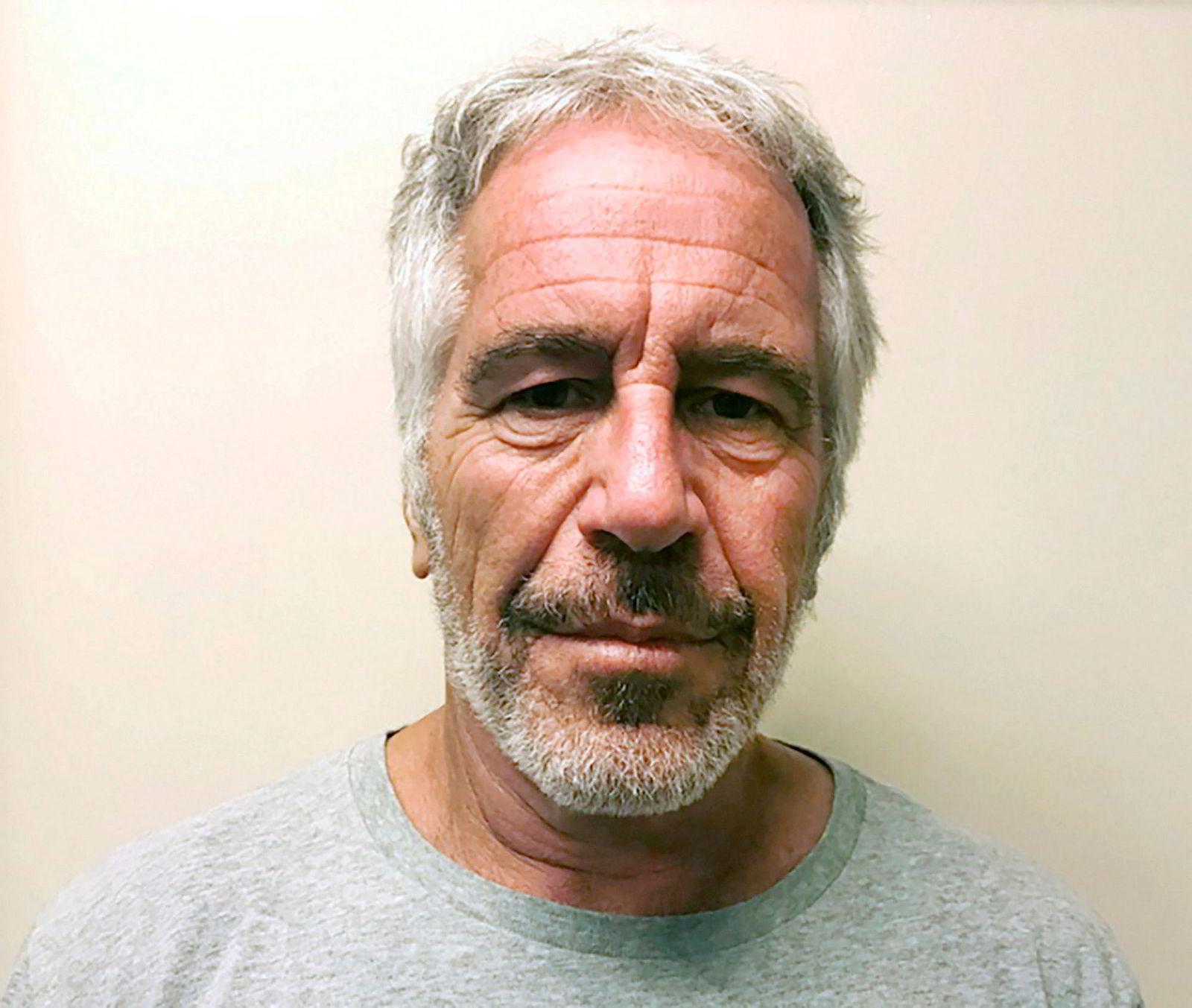 Dette bildet ble tatt av Epstein etter at han ble tiltalt i 2019.