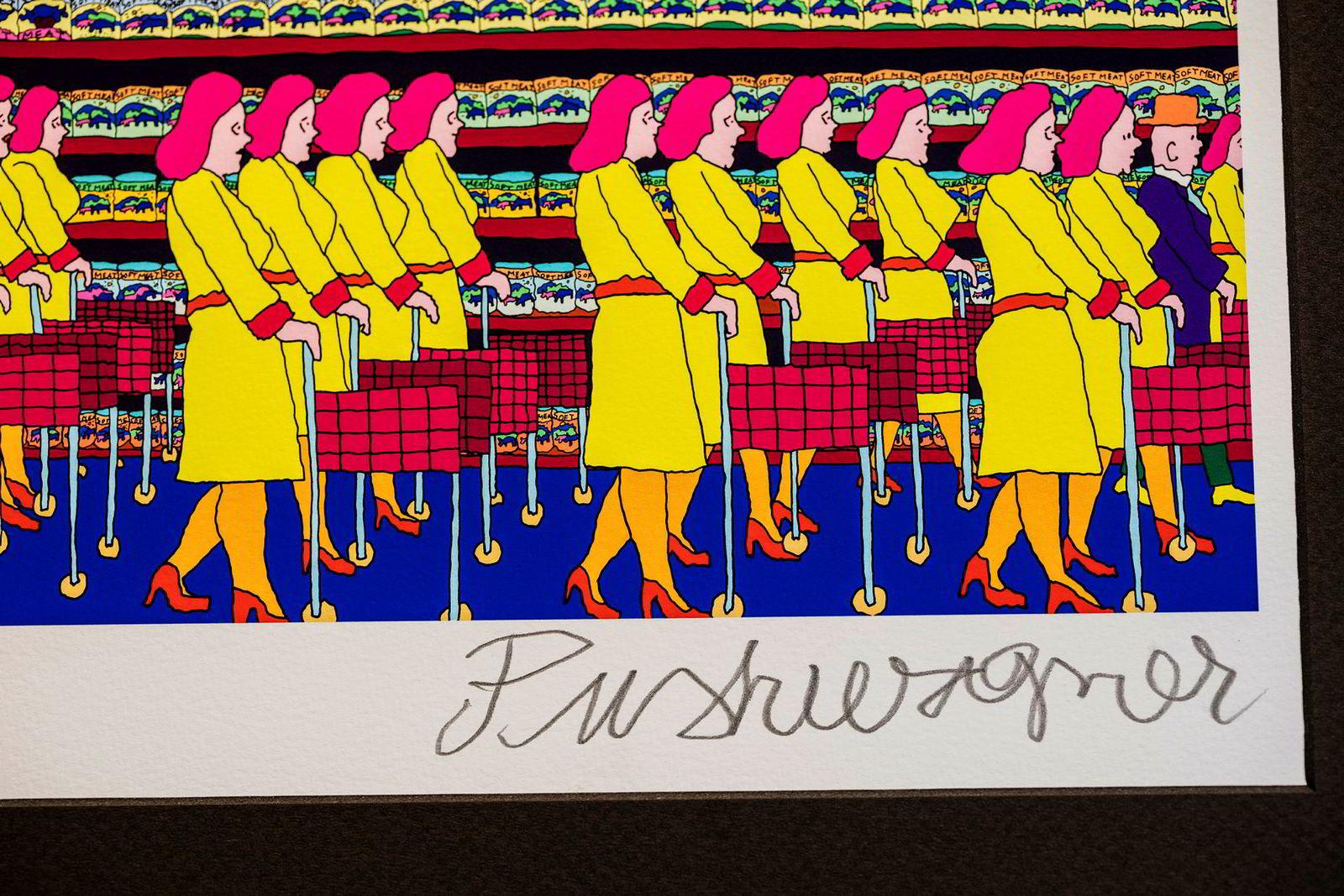 Her er Pushwagners egen signatur på et eldre verk.