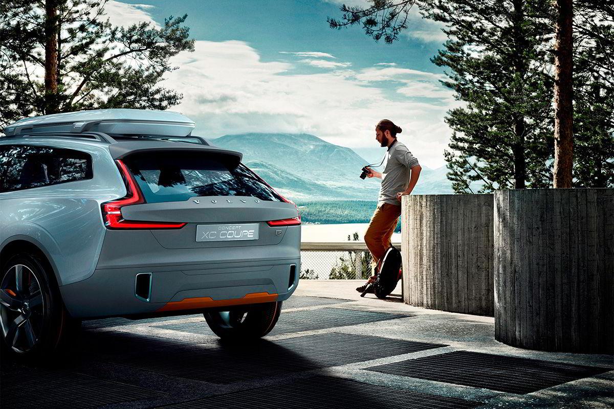 Volvo Concept XC Coupé på Solbergplassen i Sollia. Foto: