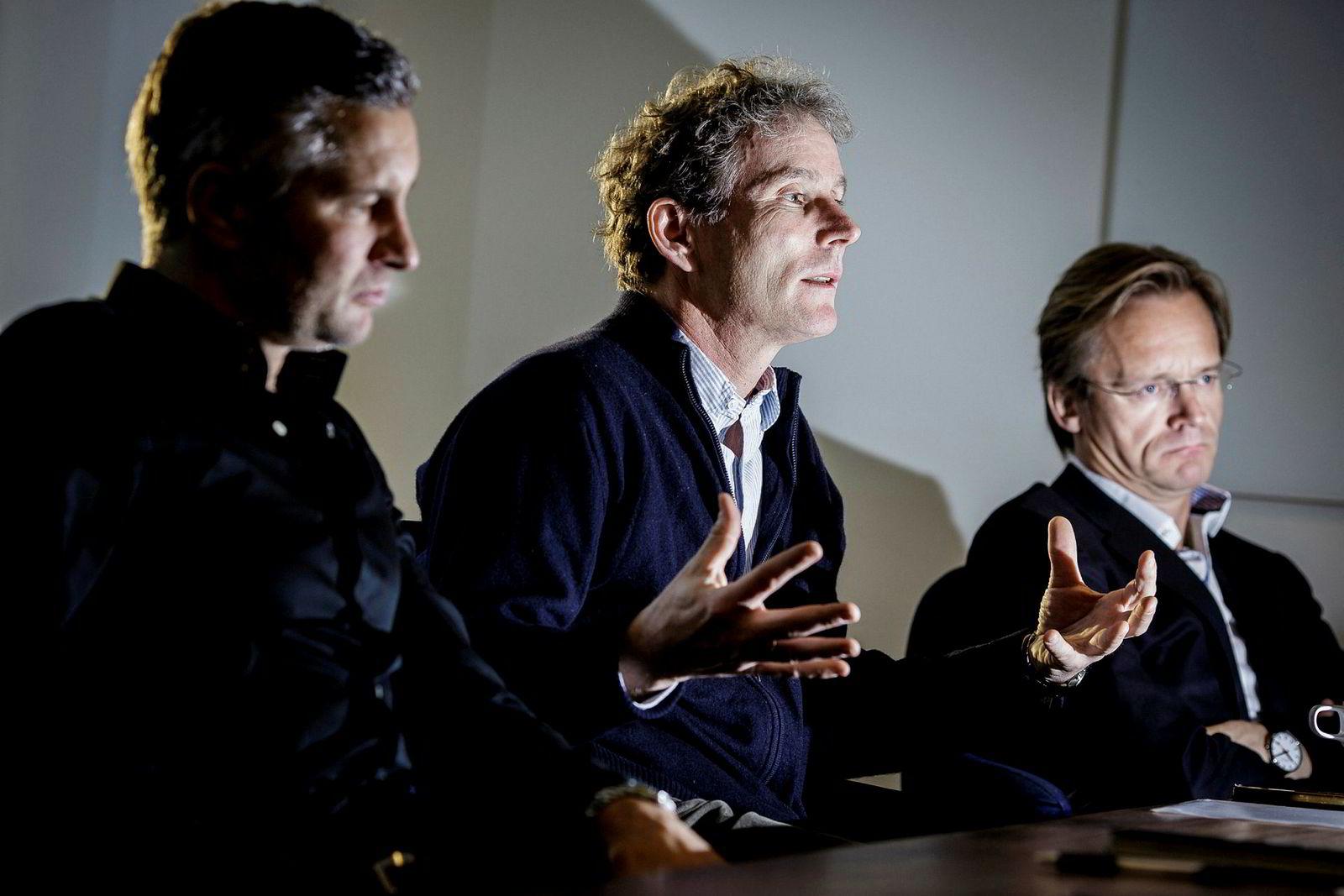 F.v: Torleif Ahlsand, Tellef Thorleifsson og Bjørn Stray.