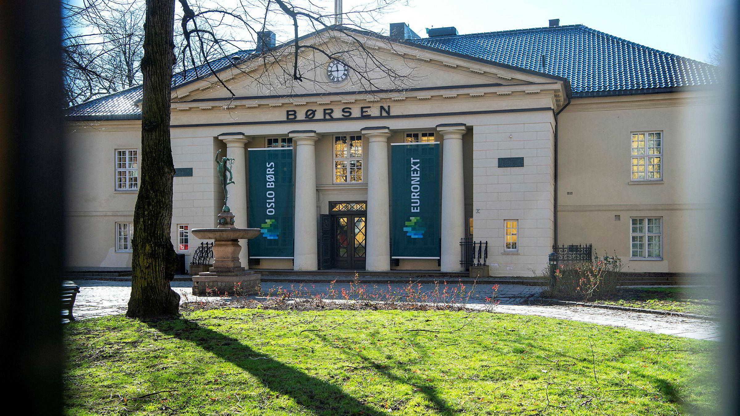 Oslo Børs åpner opp tirsdag.