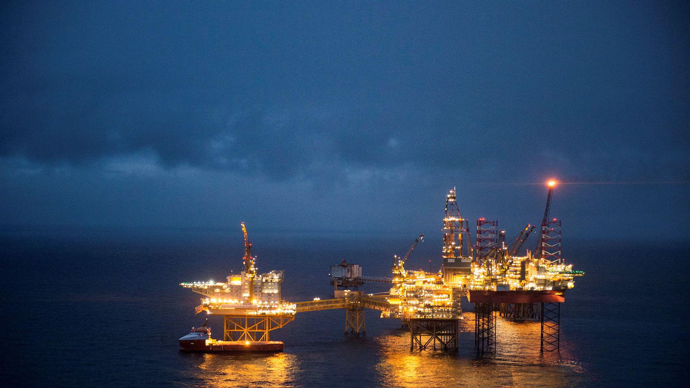 Ekofisk-feltet i Nordsjøen. Antallet petroleumsstudenter på NTNU har økt de siste årene.