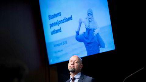 Yngve Slyngstad ble påspandert tur av den som skal etterfølge ham som sjef for Oljefondet.