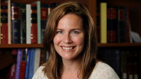 Amy Coney Barrett er ett av navnene som nevnes som mulig ny høyesterettsdommer i USA.