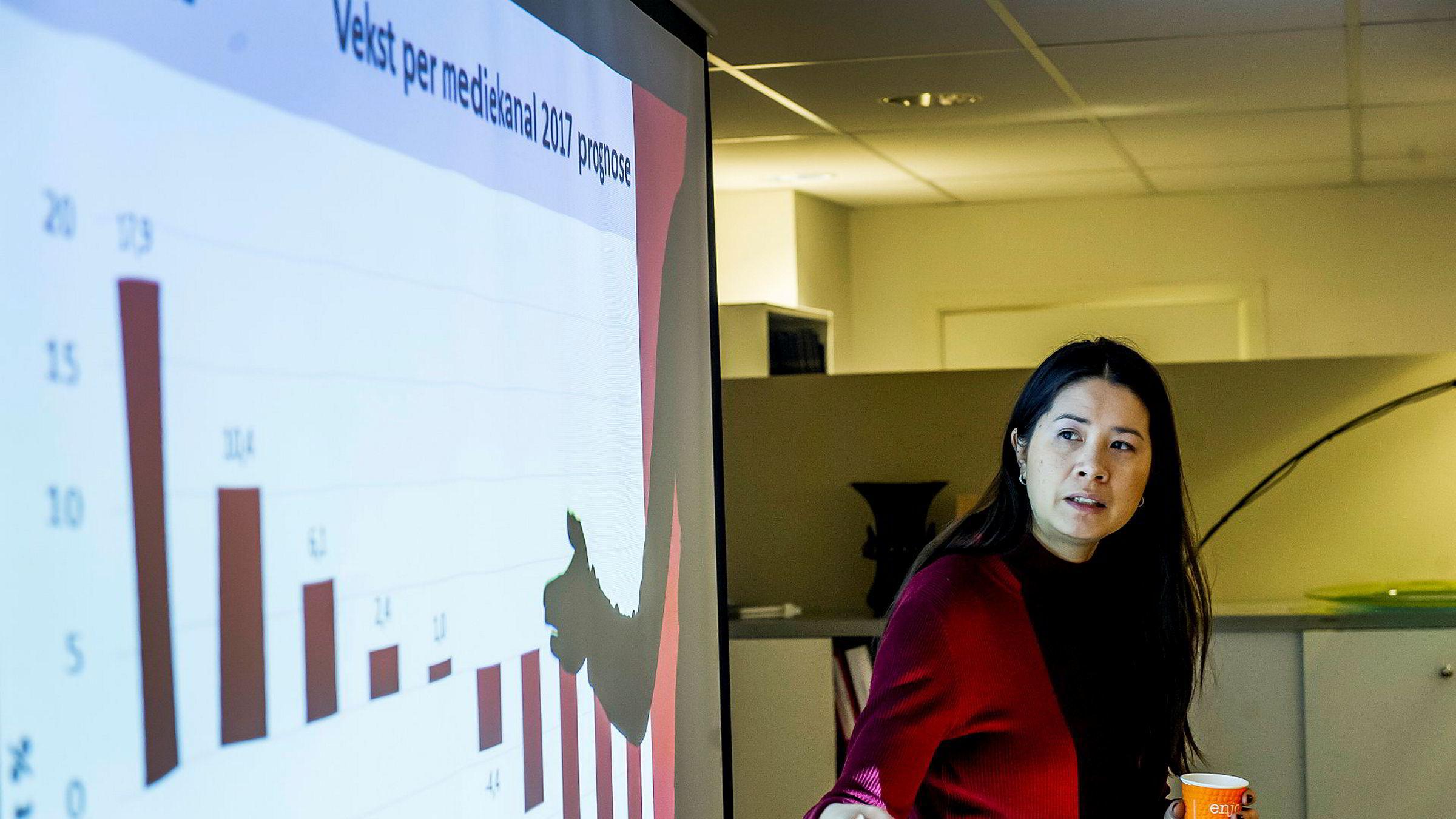 Daglig leder Madeleine Thor i Institutet för reklam- och mediestatistik.