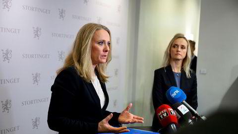 SV stemmer for mistillit mot arbeids- og sosialminister Anniken Hauglie (H), som sist uke deltok i Stortingets høring om trygdeskandalen.