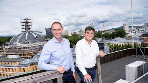 Jan Bodd og Stig Sunde er gründere i næringsmiddelkonsernet Scandza som nå har kjøpt opp den danske helsekostprodusenten Bodylab.