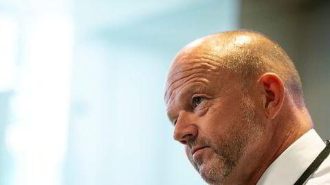 NHO-sjef Ole Erik Almlid deltok mandag på et presseseminar foran lønnsoppgjøret.