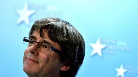 Catalonias avsatte leder Carles Puigdemont oppholder seg for tiden i Brussel.
