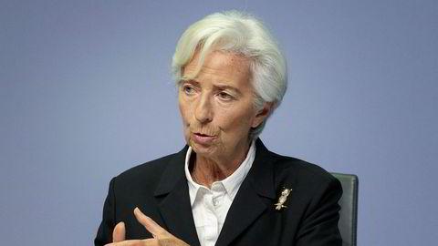 Franske Christine Lagarde er president for Den europeiske sentralbanksjefen. Torsdag legger det frem sine pengepolitiske beslutninger.