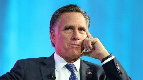 Mitt Romney er en sterk kritiker av president Donald Trump, men de to tilhører samme parti. Foto: AFP PHOTO / GEORGE FREY / NTB Scanpix
