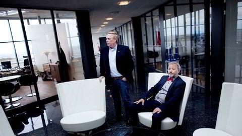 Gründer Jan Erik Vikeså og pressetalsmann Rune Haaland i Saga Energy.