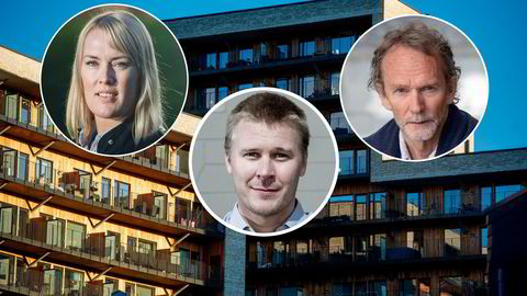 Boligforsker Mari O. Mamre og André K. Anundsen, samt sjeføkonom Harald Andreassen, venter boligprisfall ved rentehopp.