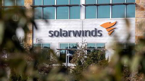 Det amerikanske programvareselskapet SolarWinds står i sentrum for sikkerhetshendelsen som har rammet tusenvis av både offentlige aktører og private selskaper over hele verden, inkludert i Norge. Her fra hovedkvarteret i Austin, Texas, i desember i fjor.