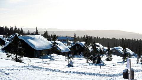 Flere hyttemeglere melder om rekordsalg. Bildet er tatt ved de nye hyttefeltene Sjusjølia og Gutubakken på Sjusjøen.