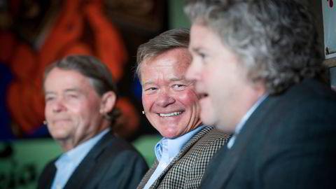 – Henleggelsen kom ikke som en overraskelse, sier Norgesgruppen-eier Torbjørn Johannson, i midten. Her sammen med sin bror og styreformann Knut Hartvig Johansson, til venstre, og konsernsjef og nevø Johan Johannson til høyre.