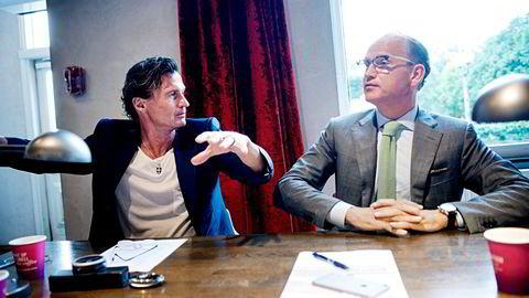 Hotellbelegget har tatt seg kraftig opp siden bunnivåene i april i fjor. – Men det er fortsatt ingen som tjener penger, mener Torgeir Silseth (til høyre), toppsjef i Nordic Choice, hotellkjeden som eies av Petter A. Stordalen (til venstre).