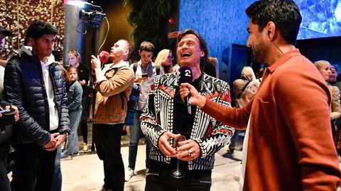 Petter Stordalen gikk i bresjen for feiringen av gjenåpningen av Norge på The Hub i Oslo.
