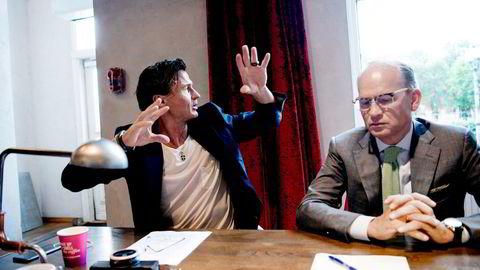 Administrerende direktør Torgeir Silseth (til høyre) i Petter A. Stordalens hotellkonsern Nordic Choice ser begynnelsen på slutten av koronakrisen for hotellene. Men det er fortsatt langt igjen til normaltilstander.