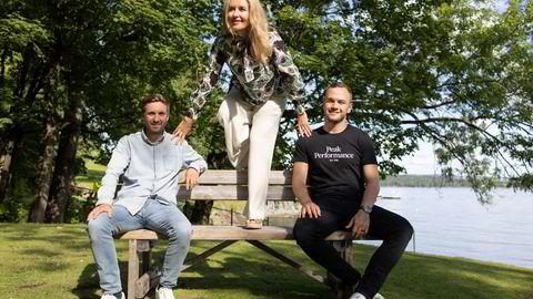 Operativ leder Jarle Snertingedalen (fra venstre), administrerende direktør Jeanette Dyhre Kvisvik og markedssjef Andreas Kristiansen i Villoid prøver å nå en omsetning på 100 millioner kroner i år.