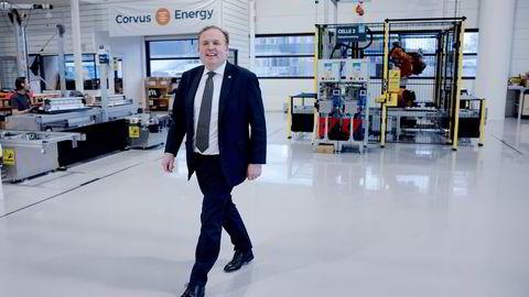 – Vi må rett og slett rigge til en enda raskere vekst og bygge opp kapasiteten for å ta imot den tsunamien som vil komme, sier administrerende direktør Geir Bjørkeli i batteriselskapet Corvus Energy-